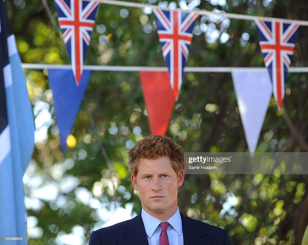 Prince Harry prepares to deliver a speech during a reception at the British High Commission on June 14, 2010 in Gaborone, Botswana. Harry arrived ahead of his older brother Prince William for a joint tour of Southern Africa.