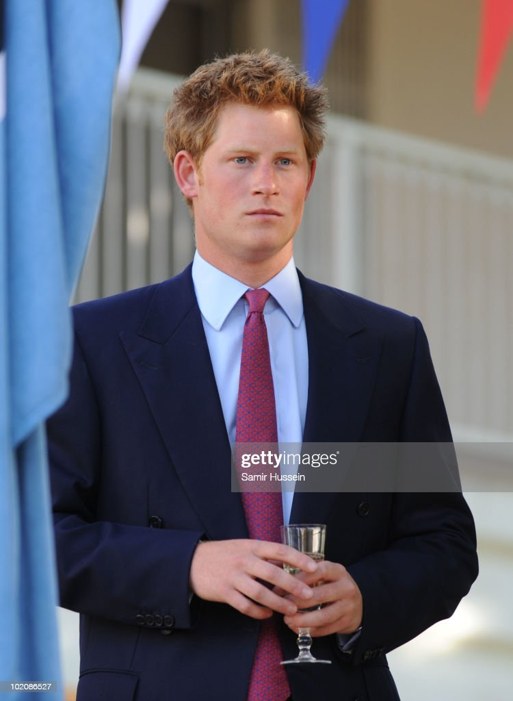 Prince Harry prepares to toast the Queen during a reception at the British High Commission on June 14, 2010 in Gaborone, Botswana. Harry arrived ahead of his older brother Prince William for a joint tour of Southern Africa.