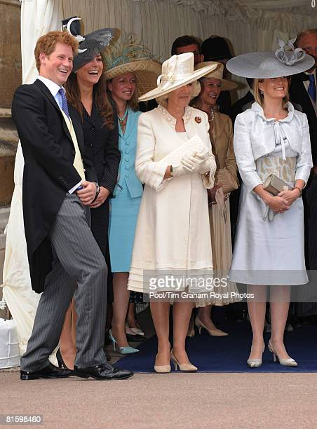 Prince Harry, Prince William's girlfriend Kate Middleton, Camilla, Duchess of Cornwall and Sophie, Coutes of Wessex laugh together as they watch the...