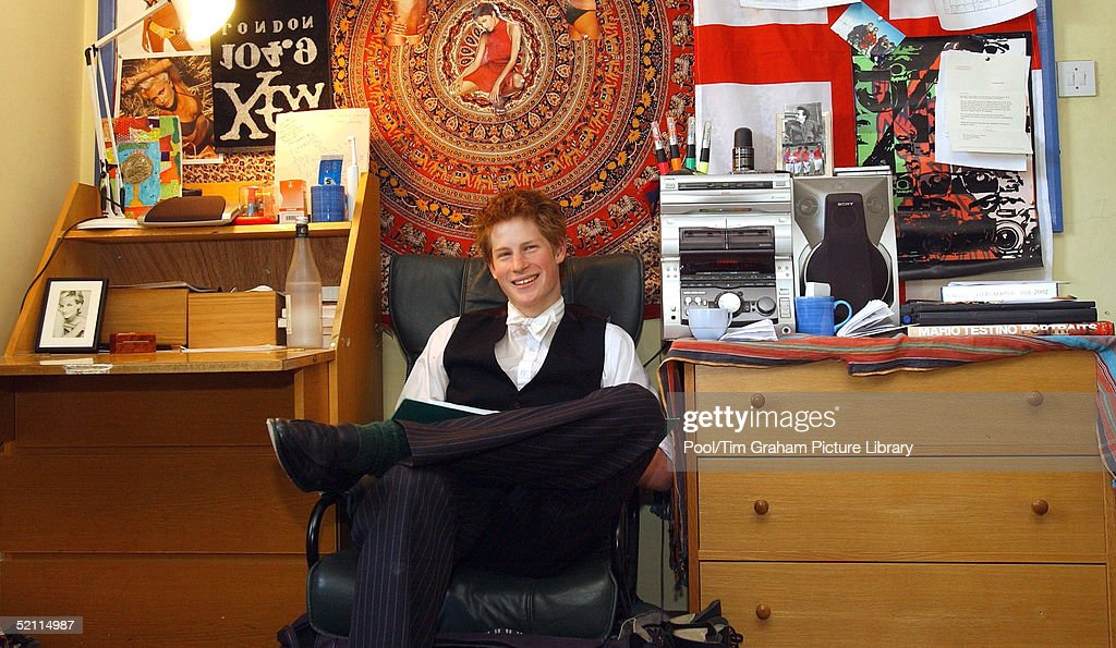 Prince Harry Eton Bedroom : News Photo