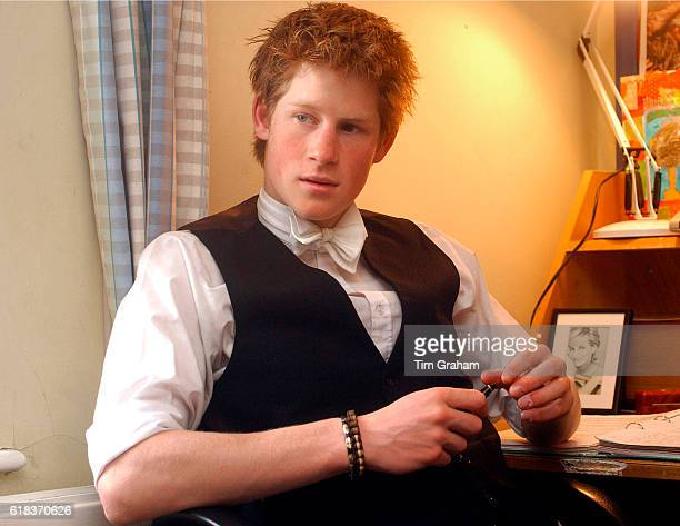 Prince Harry sits in his room at Eton College