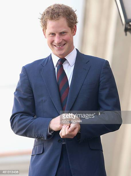 Prince Harry smiles as he visits the La Moneda Presidential Palace on June 27 2014 in Santiago Chile Prince Harry is on a three day tour of Chile...