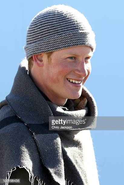 Prince Harry smiles during a visit to a child education centre on June 17 2010 in Semonkong Lesotho The two Princes are on a joint trip to Africa...