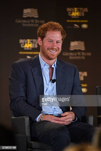 Prince Harry smiles during the Opening Ceremony of the Invictus Games Orlando 2016 at ESPN Wide World of Sports on May 8, 2016 in Orlando, Florida....