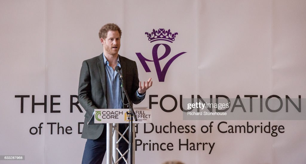 Prince Harry Visit Full Effect & Coach Core Programmes In Nottingham : News Photo