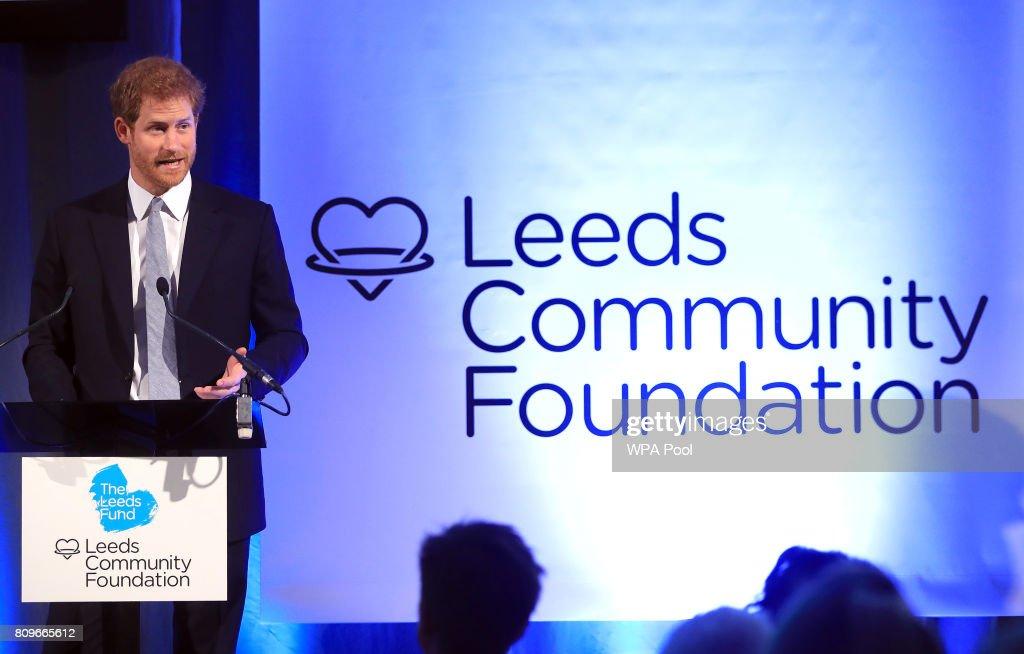 Prince Harry Visits Leeds - Day 1 : News Photo