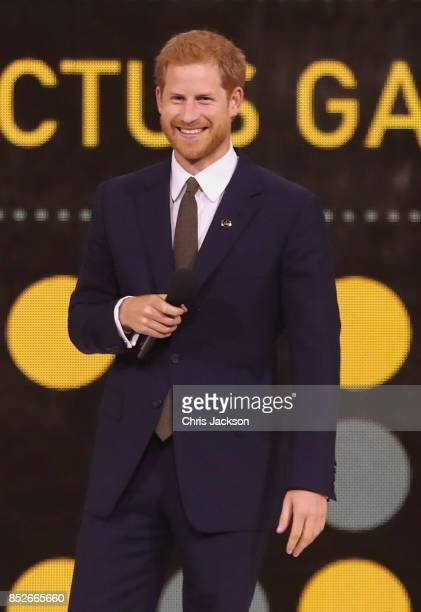 Prince Harry speaks during the opening ceremony of the 2017 Invictus Games at Air Canada Centre on September 23 2017 in Toronto CanadaThe Invictus...