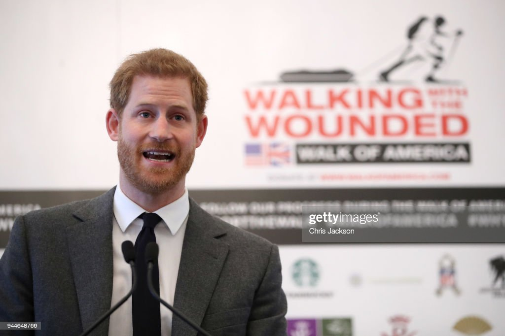 Prince Harry Launches 'Walk Of America' Expedition