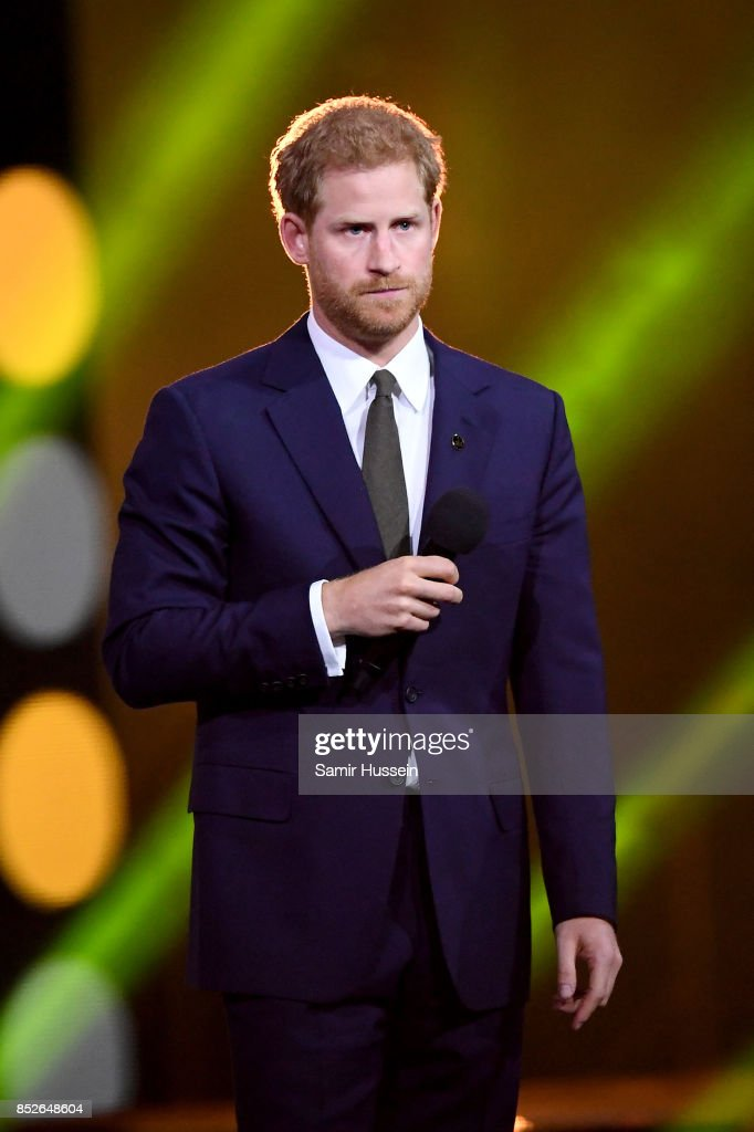 Prince Harry speaks onstage during the opening ceremony on day 1 of the Invictus Games Toronto 2017 at Air Canada Centre on September 23, 2017 in Toronto, Canada. The Games use the power of sport to inspire recovery, support rehabilitation and generate a wider understanding and respect for the Armed Forces