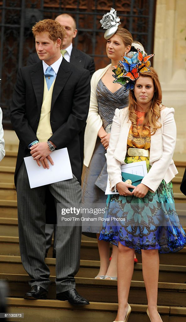 Prince Harry and Zara  At Peter Phillips Wedding : News Photo