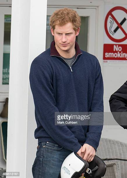Prince Harry takes part in The Royal Foundation Track Day at Goodwood Motor Circuit on February 15 2014 in Goodwood United Kingdom