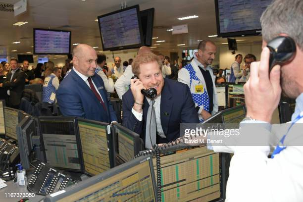 Prince Harry The Duke of Sussex representing Invictus attends BGC Charity Day at One Churchill Place on September 11 2019 in London England