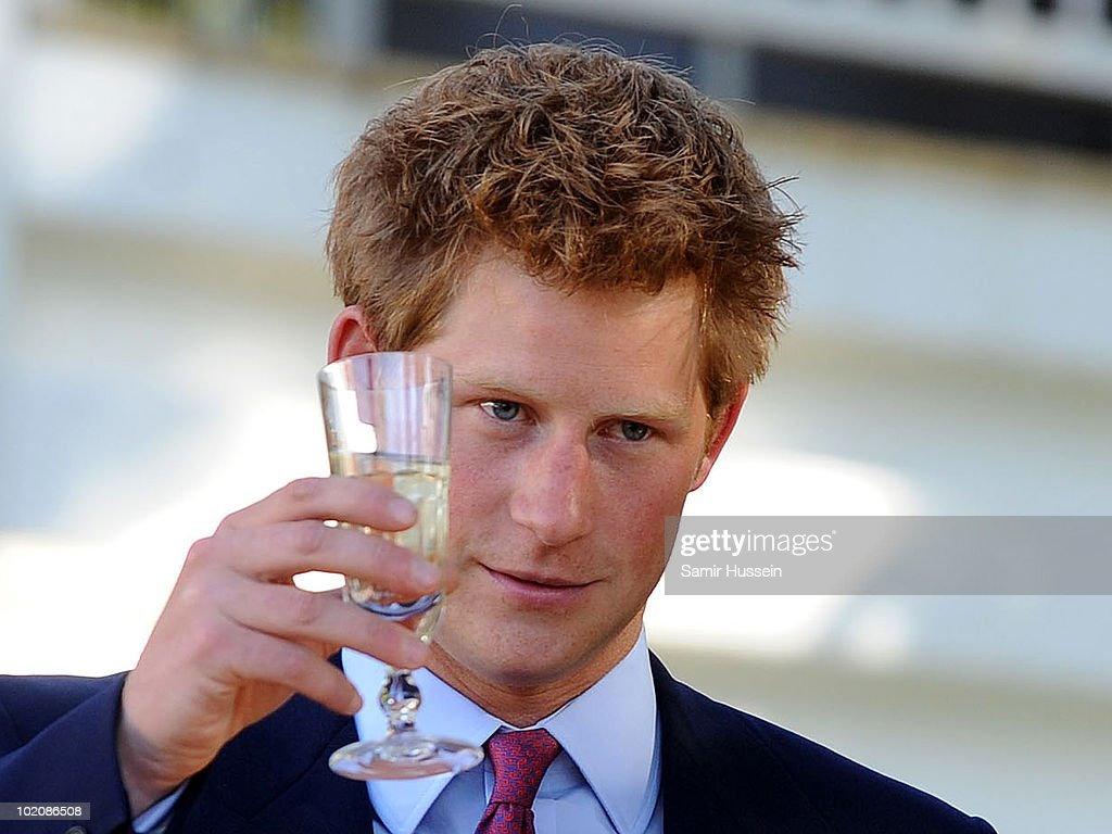 Prince Harry toasts the Queen during a reception at the British High Commission on June 14, 2010 in Gaborone, Botswana. Harry arrived ahead of his older brother Prince William for a joint tour of Southern Africa.