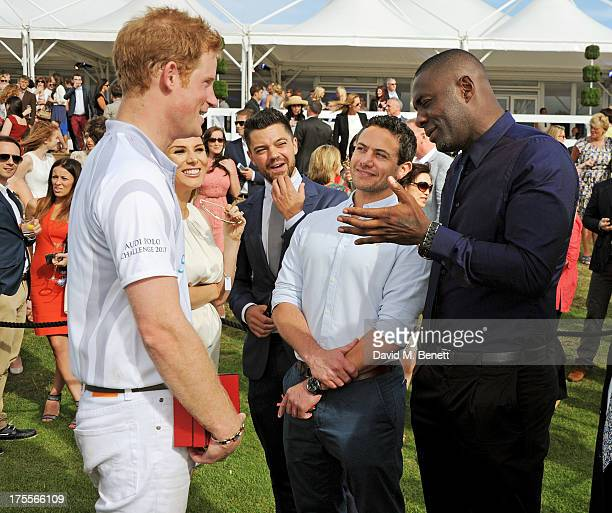 Prince Harry Tonya Meli Dominic Cooper Warren Brown and Idris Elba attend day 2 of the Audi Polo Challenge at Coworth Park Polo Club on August 4 2013...