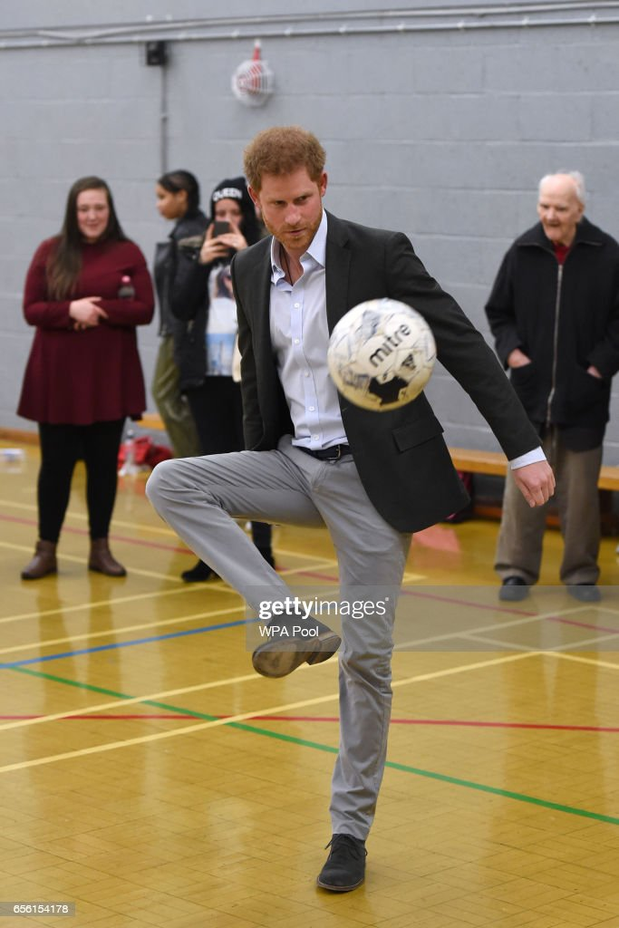 Prince Harry Visits Leicester : News Photo