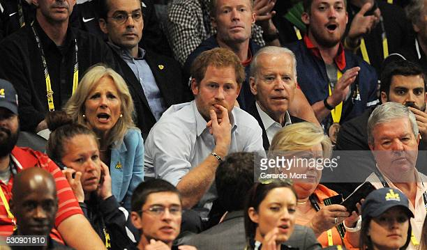 Prince Harry, Unite States President Joe Biden and his wife Jill attend the Unite States and Denmark wheelchair Rugby Finals at the Invictus Games...