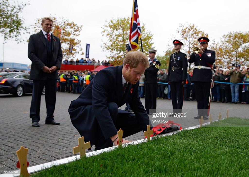 Prince Harry Attends England vs South Africa - International Match : News Photo