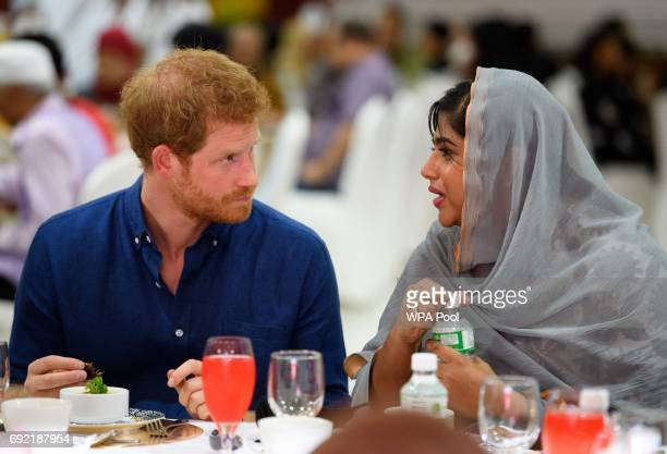 Prince Harry visits Jamiyah Singapore on the first day of a two day visit to Singapore on June 4 2017 in Singapore