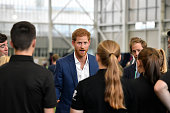 manchester england prince harry visits manchester
