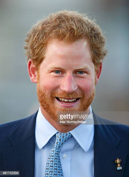 Prince Harry visits Paignton Rugby Club to present them with an RFU Gold Standard Facilities Award on October 7 2015 in Paignton England