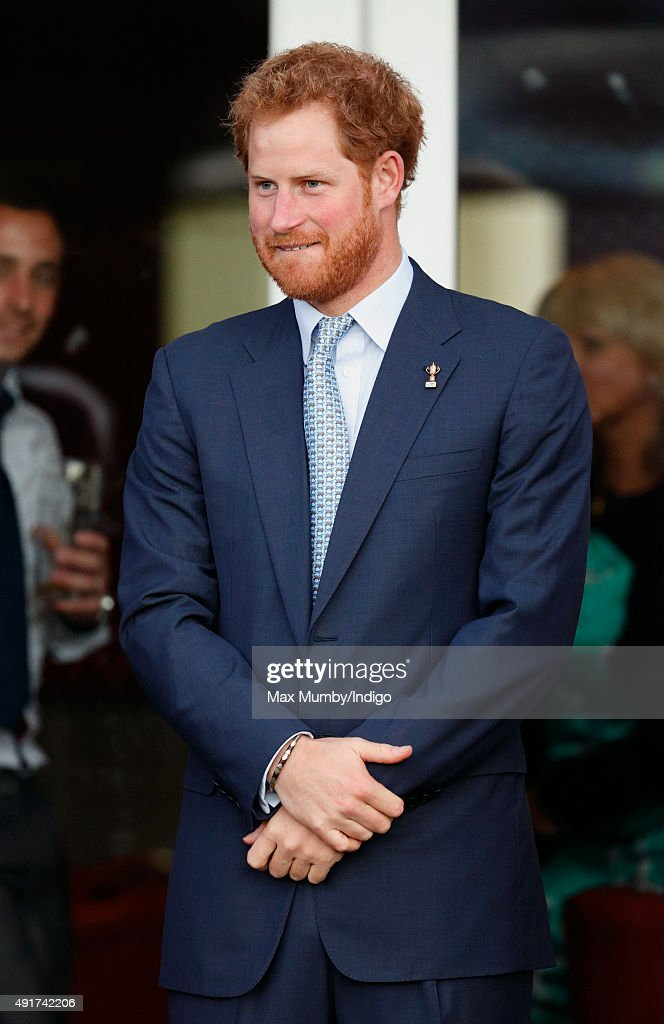 Prince Harry visits Paignton Rugby Club to present them with an RFU, Gold Standard Facilities Award on October 7, 2015 in Paignton, England.