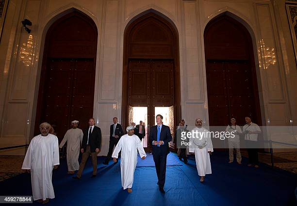 Prince Harry visits Sultan Qaboos Grand Mosque on November 20 2014 in Muscat Oman Prince Harry is on a three day visit to Oman before heading to Abu...