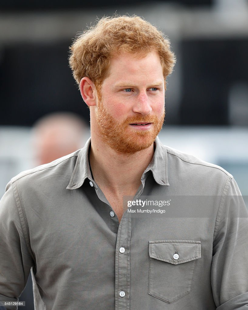 Prince Harry Visits The Blair Project : News Photo