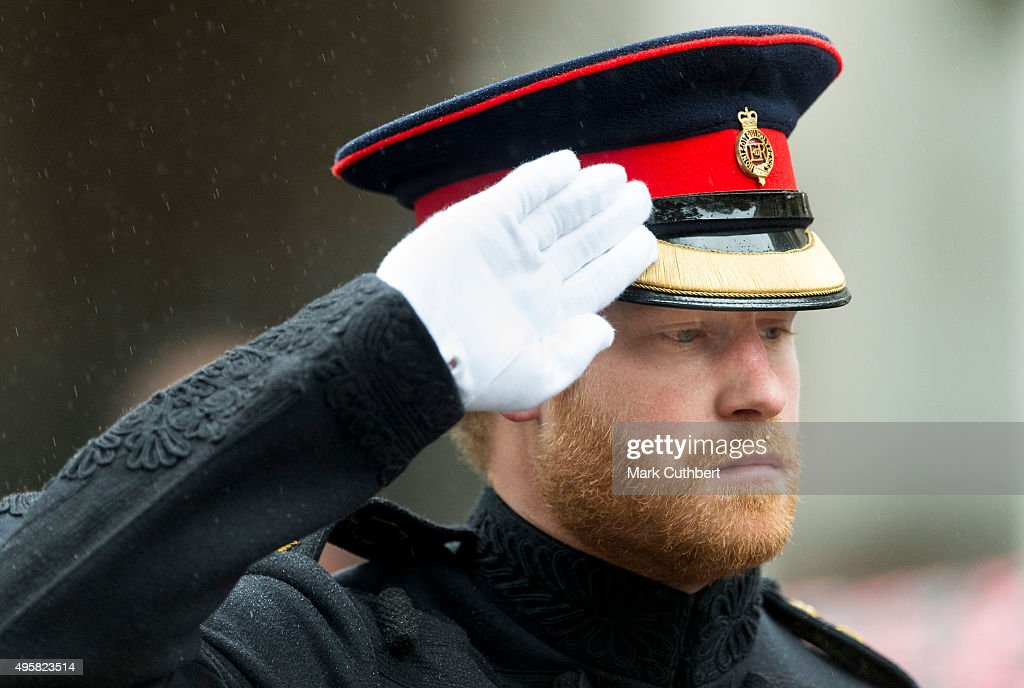 Prince Harry visits The Field Of Remembrance at Westminster Abbey on November 5, 2015 in London, England.