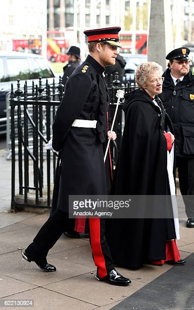Prince Harry visits the Field of Remembrance at Westminster Abbey on November 10th 2016 in London England