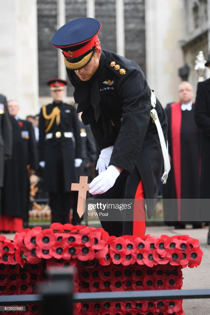 Prince Harry Visits The Field Of Remembrance At Westminster Abbey : News Photo