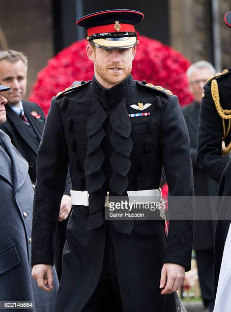 Prince Harry visits the Fields of Remembrance at Westminster Abbey on November 10 2016 in London England