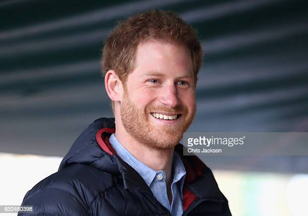 Prince Harry visits the Help for Heroes Hidden Wounds Service at Tedworth House on January 23 2016 in Tidworth England