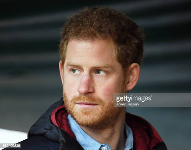 Prince Harry visits the Help for Heroes Recovery Centre at Tedworth House on January 23 2017 in Tidworth England