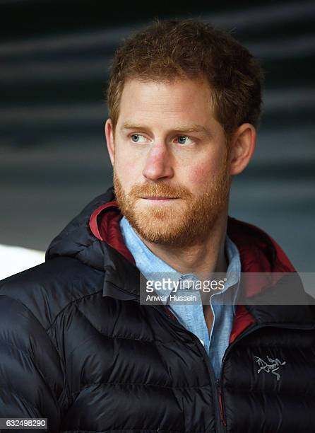 Prince Harry visits the Help for Heroes Recovery Centre at Tedworth House on January 23, 2017 in Tidworth, England.