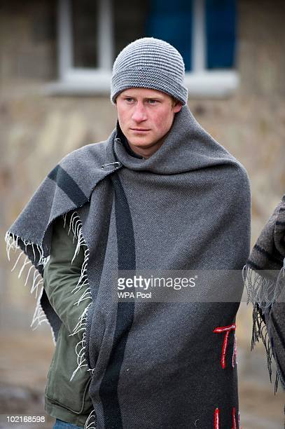 Prince harry visits The Herd Boys School on June 16 2010 in Semongkong in Lesotho The two Princes are on a joint trip to Africa which takes in...