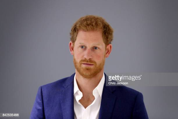 Prince Harry visits the NHS Manchester Resilience Hub on September 4, 2017 in Manchester, England.