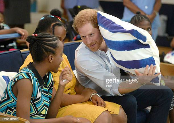 Prince Harry visits the Nightingale Children's Home where he meets different organisations offering support and care to children in need on November...