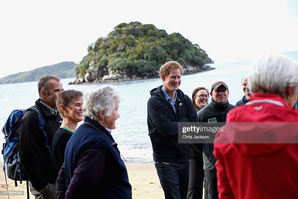 Prince Harry visits the open wildlife sanctuary of Ulva Island on May 10, 2015 in Oban, New Zealand. Prince Harry is in New Zealand from May 9 through to May 16 attending events in Wellington, Invercargill, Stewart Island, Christchurch, Linton, Whanganui and Auckland.