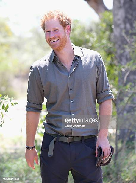 Prince Harry visits the South African Wildlife College on December 2 2015 in Hoedspruit South Africa Prince Harry is visiting South Africa as part of...