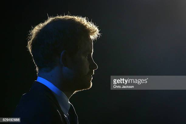 Prince Harry waits to give a speech during the Opening Ceremony of the Invictus Games Orlando 2016 at ESPN Wide World of Sports on May 8 2016 in...