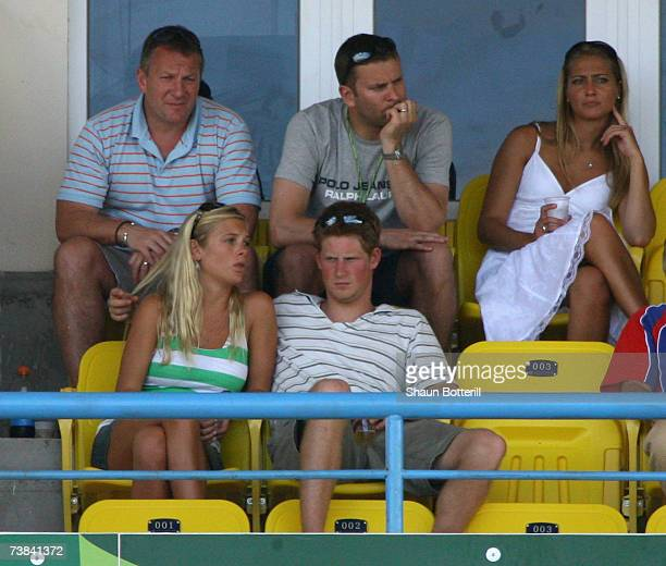 IL 08 IL 08 IL 08 Prince Harry watches and his girlfriend Chelsy Davy the cricket during the ICC Cricket World Cup 2007 Super Eight match between...