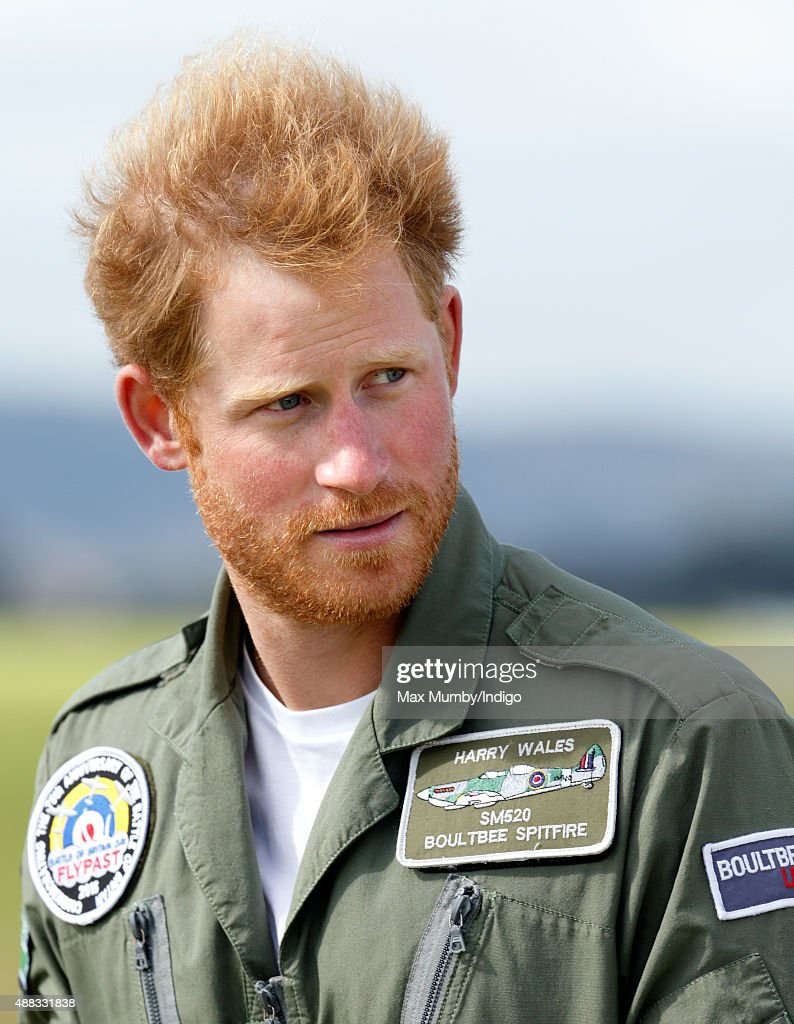 Prince Harry Attends The Battle Of Britain Flypast : News Photo