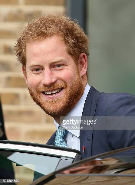 Prince Harry waves as he leaves after a visit to Mildmay a dedicated HIV hospital to mark the opening of the new purpose built facility at Mildmay...
