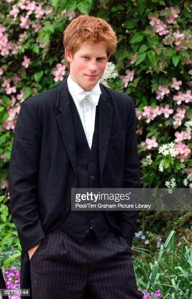 Prince Harry Wears School Dress Which Consists Of Black Tailcoat And Waistcoat And Pinstriped Trouser The Former Date From Around 1850 And The Latter...