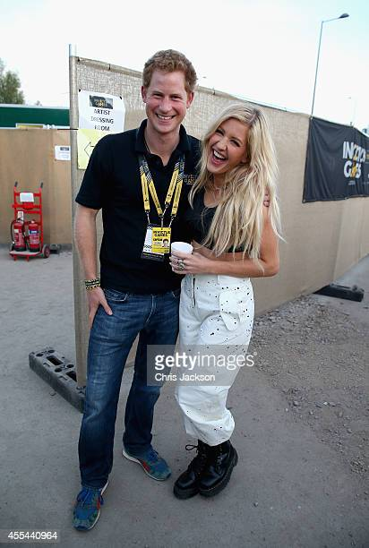 Prince Harry with Ellie Goulding backstage at the Invictus Games Closing Ceremony during the Invictus Games at Queen Elizabeth park on September 14...