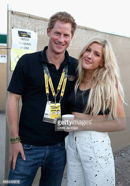 Prince Harry with Ellie Goulding backstage at the Invictus Games Closing Ceremony during the Invictus Games at Queen Elizabeth park on September 14,...