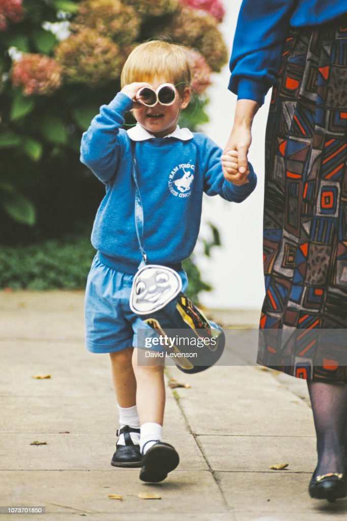 Prince Harry First Day of School : News Photo
