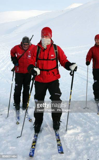 Prince Harry with the Walking with the Wounded team who have gathered on the island of Spitsbergen situated between the Norwegian mainland and the...