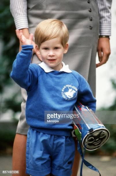 Prince harrys first day at nursery school in chepstow villas in kensington