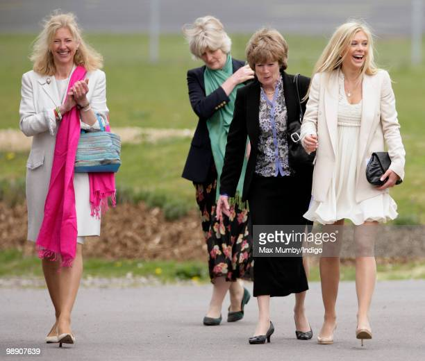 HRH Prince Harry's former nanny Tiggy Pettifer Aunts Lady Jane Fellowes and Lady Sarah McCorquodale and girlfriend Chelsy Davy attend HRH Prince...